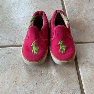 Ralph Lauren Slip On Sneakers 7.5 Toddler Girl